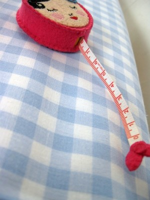 ♥CHECK it OUT♥ 0.7m fabric cotton SKYblue