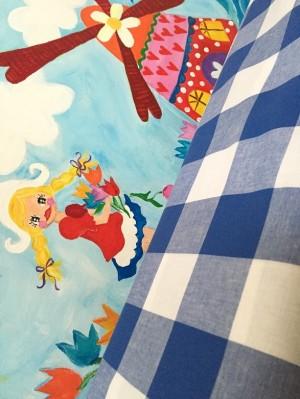 ♥VICHY XXL♥ Cotton ROYAL BLUE Dutch PRICE PER 0.5 METER