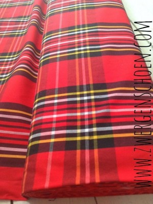 ♥TARTAN♥ 0.5m WOVEN COTTON Scottish CHECK Popeline
