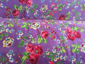 ♥VELVET♥ Roses PRICE PER 0.5METER purple FOLK