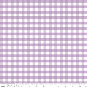 ♥GINGHAM♥ Cotton RILEY BLAKE Lavendar PRICE per 0.5METER