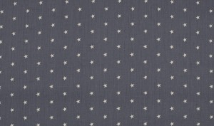 ♥little SUPERSTARS♥ COTTON grey/white PRICE per 0.5 METER