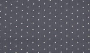 ♥little SUPERSTARS♥ 0.5m Baumwolle POPELINE grau/weiß METERPREIS