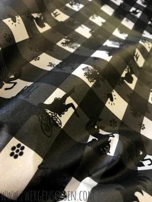 ♥FAIRYTAUSENDSCHÖN♥ on VICHY 0.5m BESCHICHTETE BAUMWOLLE schwarz/grau