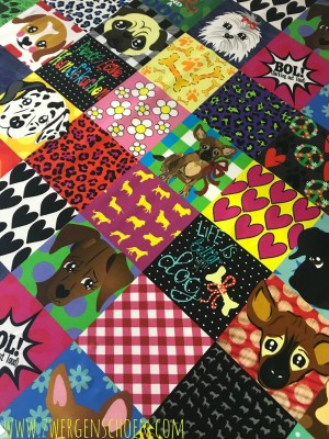 ♥WUFFz on PaeTSCH♥ 0.5m JERSEY Dogs PATCHWORK