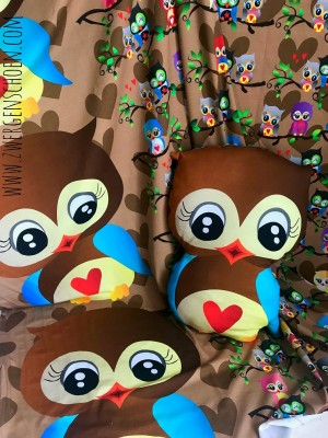 ♥EULENschoen 2in1♥ 0.48m JERSEY Owls PANEL