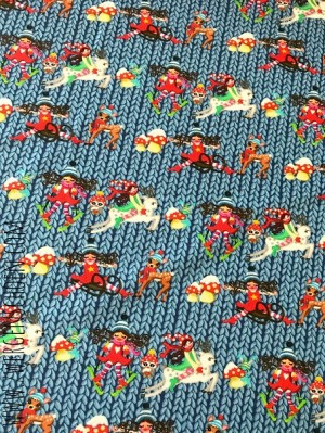 ♥MILLI`s STRICKWUNDER♥ 0.5m SWEATSHIRT Digitaldruck