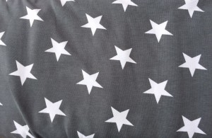 ♥SUPERSTARS♥ 0.5 (!) m JERSEY Sterne GRAU grey STARS