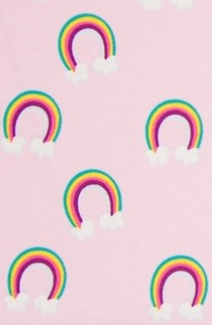 ♥RAINBOW♥ 0.5m JERSEY light PINK clouds