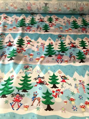 ♥WINTERwunderWELT♥ 0.55m NYLON Digitaldruck RELOADED!!!
