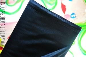 ♥SWIMwear♥  65cm Badeanzug Stoff Uni SCHWARZ