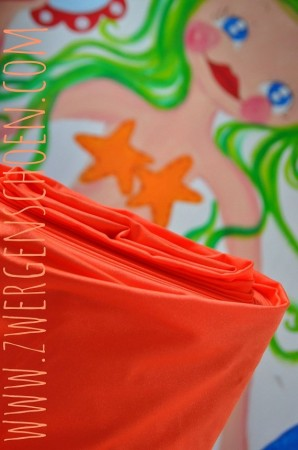 ♥SWIMwear♥ 0.5m Badeanzug Stoff Uni ORANGE