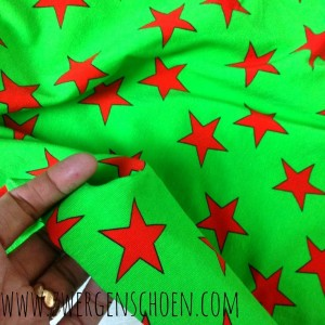 ♥SUPERSTARS♥ 0,5m JERSEY red on GREEN Digitalprint