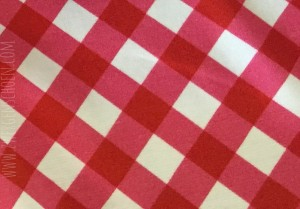 ♥VICHY♥ 0.5m CHECKED Jersey RED/PINK Digitalprint