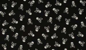 ♥SCULLS♥ 0.5m COTTON Pirates BLACK