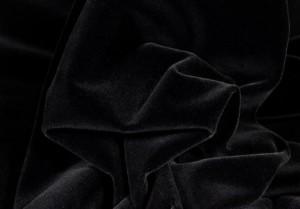 ♥Brillant - Samt♥ 0.25m SCHWARZ Goldkante EDEL Qualität