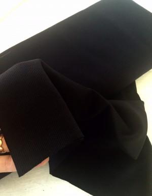 ♥CUFF♥ 0.25m UNI black PRICE per 0.25m