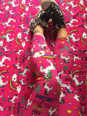♥UNICORN♥ 0.5m OUTLINERS Einhorn JERSEY dark PINK