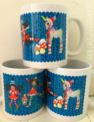♥KNITTING WONDER♥ Mug WINTER Fairy TALE 0.3L