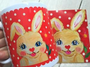 ♥HASENSCHÖN♥ Bunny HASE Tasse 0.3L herzblutrot