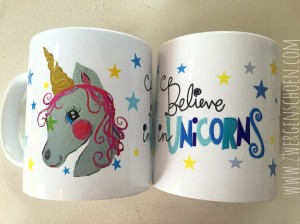 ♥BELIEVE in UNICORNS♥ Tasse 0.3L Einhorn
