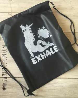 ♥EXHALE♥ Turnbeutel BEUTEL black UNICORN