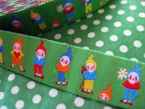 ♥7DWARFs♥SWEET Gnome FAIRY TALE Ribbon GREEN