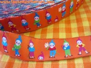 ♥7DWARFs♥SWEET Gnome FAIRY TALE Ribbon ORANGE