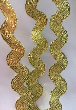 ♥GOLD♥ RICKRACK Ribbon GO FOR GOLD 0.9cm WIDTH Price per METER