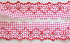 ♥LINGERIE♥ RIBBON Vichy RED Price per METER