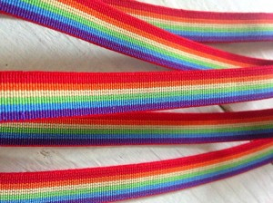 ♥RAINBOW♥ RUBBER elastic RIBBON Price per METER