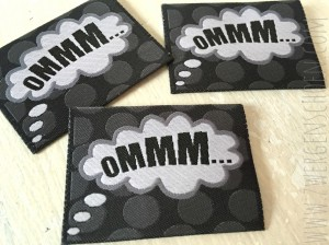 ♥OMMM♥ Woven LABEL 5x5cm YOGA Love BUBBLE