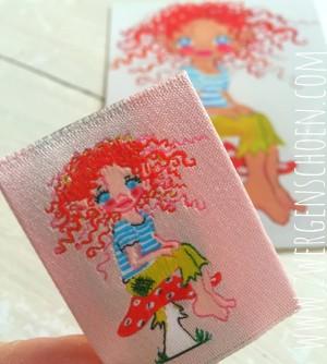 ♥HULLA TRoeLLA♥ ICELAND woven Label GNOME 5x5cm