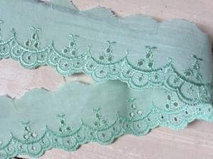 ♥LINGERIE♥ BATIST iceBLUE cotton 4cm PRICE PER METER