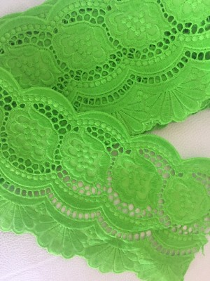♥LINGERIE XXXXL♥ fairyGREEN Cotton PRICE per METER