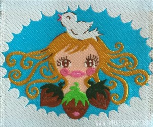 ♥HAZEL&Friends♥ WOVEN LABEL Cinderella 5x5cm