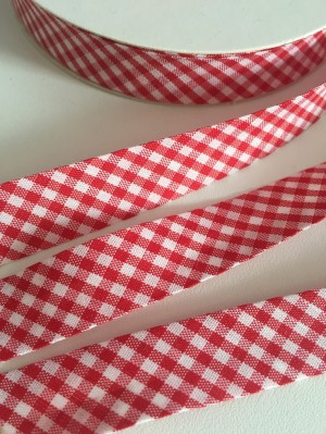 ♥VICHY♥ little RED non-elastic RIBBON BINDING folded CHECK