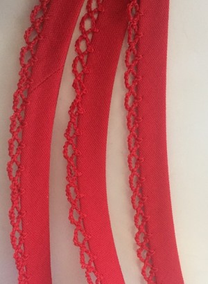 ♥UNI♥ little RED non-elastic RIBBON BINDING Price per Meter