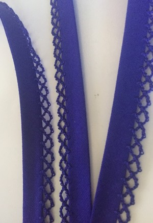 ♥UNI♥ inked BLUE non-elastic RIBBON BINDING Price per Meter