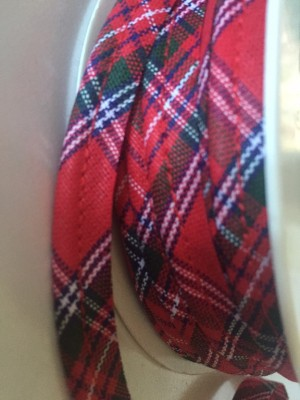♥TRIM♥ Paspel RIBBON Tartan KILT Cotton PRICE per METER