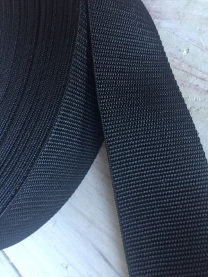 ♥GURTBAND XL♥ 5cm BREIT schwarz METERWARE