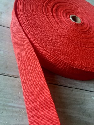 ♥BELT XL♥ RED RIBBON 5cm PRICE PER METER