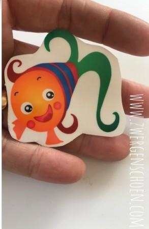 ♥FISCHERS FRITZI♥ Aufkleber TRANSPARENT Fisch 5x5cm
