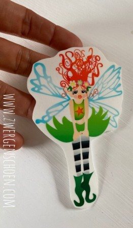 ♥DOING DOING♥ Aufkleber FAIRY FEE transparent 10cm