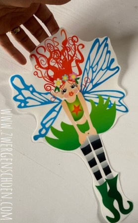 ♥DOING DOING XL♥ Aufkleber FAIRY FEE transparent 29cm
