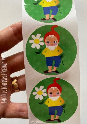 ♥GNOME♥ Sticker 10pcs FRIENDS FOREVER 5cm