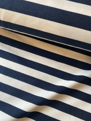 ♥BLOCKSTREIFEN♥ 0.5m SWEATSHIRT marine STRIPES