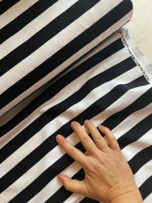 ♥BLOCKSTREIFEN♥ 0.5m SWEATSHIRT schwarz STRIPES black