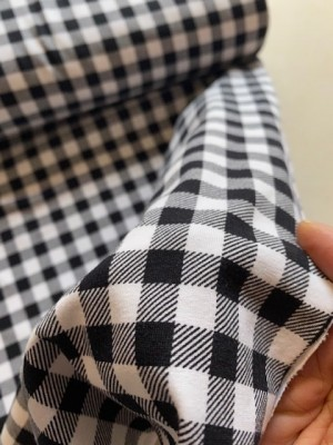 ♥GINGHAM♥ 0.5m JERSEY black/white