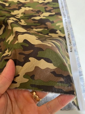 ♥CAMOUFLAGE♥ 0.5m COTTON Popeline GREEN army DESIGN